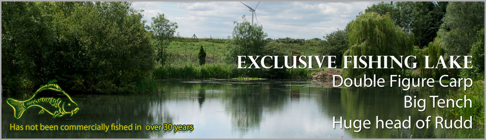 Windmill Fen Lake for outdoor fishing and camping exclusive hire with double figure carp big tench and plenty of Rudd